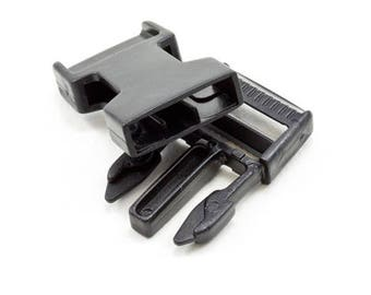 """3/4"""" Black Side Release Buckle - 10 Pack - High Quality Acetal - ACW Brand - Made in USA"""