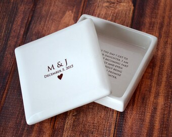 Mother of the Bride Gift From the Groom - Personalized Mother of the Bride Gift - Square Keepsake Box - Comes with a Gift Box