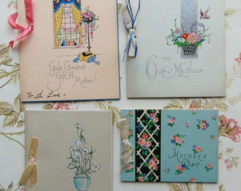 4 Vintage Mother's Day Cards