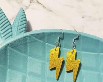 Lightning Dangles, Lightning Earrings, Lightning Bolt Earrings, Lightning Bolt Dangles, Earrings, Jewellery, Dangle Earrings, Lightning Bolt