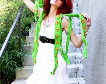 Kraken Of The Sea Scoofie - Custom Color Handmade Crochet Mythological Creature Hooded Scarf Couture