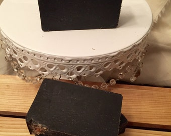 Pink Sugar - Activated Charcoal Soap, Pink Himalayan Salt Soap, Black Soap, Exfoliating Soap, Scrubby Soap
