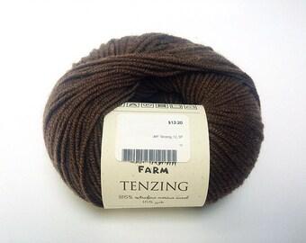 Brown wool yarn - destash - wool yarn - Free shipping