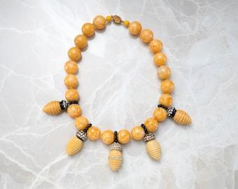 Bakelite and Rhinestone Necklace