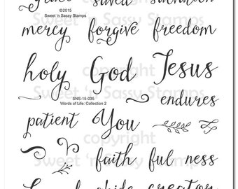 Words of Life: Collection 2 Bible Journaling Faith Stamps