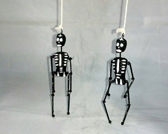 Mini Dancing Clay Skeletons
