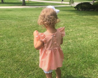"Girls ""Piper"" Flutter Sleeve Top ONLY - 6 mos to size 6 - choose your own fabric."