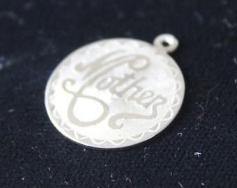 Cadeau de charme Vintage Charm en argent Sterling pendentif mère de jour cadeau pour maman cercle charme rond de mère fête pour ta mère