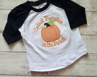 Custest Pumpkin in the Patch - Halloween Shirt - Pumpkin Shirt - Girls Fall Shirt - Custom Fall Shirt - Pumpkin Patch Shirt - Girl Halloween