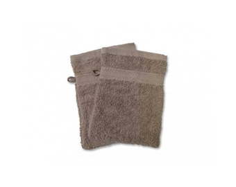 Cotton washcloth Terry Otter / Taupe