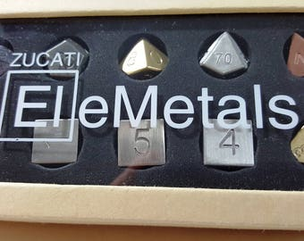 Zucati EleMetal™:  10 Metal Mixed Polyhedral Master Set #1