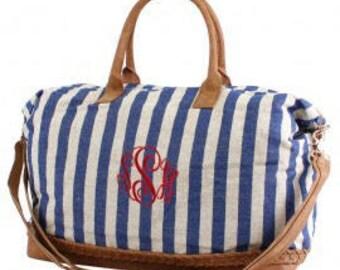 Monogram Striped Duffle Bag