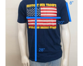 SALE Desert Storm Support Our Troops Vintage Tshirt Size Large