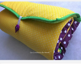 Changing pad Nomad multicolored polka dots