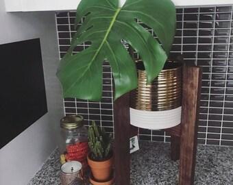 Custom Mid-Century Plant Stands (Dark Mahogany)