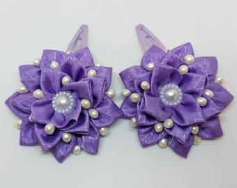 Kanzashi hair clips