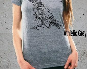 Womens ROBOTIC BIRD Shirt)Steampunk ClothingSteampunk Tshirt, Shirt-Women's Graphic TeeAmericanjunkiesociety-Birthday Gift Gifts,instagram
