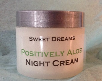 Night cream from Positively Aloe's is extra moisturizing with organic Lavender Oil. All natural and great for sensitive skin