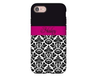 Damask iPhone 7 Plus case, iPhone 7 case, iPhone X case, iPhone 8 case, iPhone 8 Plus case, iPhone 6s Plus case/6s case, 3D iPhone case