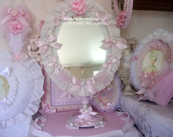 Great old psyche shabby chic, full of romance...