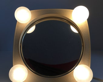 Rayex Lighted Magnifying Mirror ~ Vanity Mirror ~ Make up Mirror ~ Portable Lamp ~ Tabletop Lighted Mirror ~ Vintage