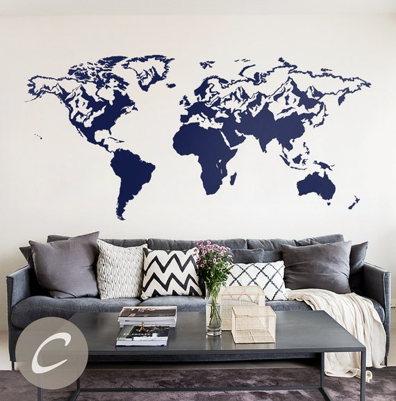 Map of the world decal wall map decal world map sticker world map of the world decal wall map decal world map sticker world map wall decal vinyl map decal big map decal wall map sticker ak002 gumiabroncs Choice Image