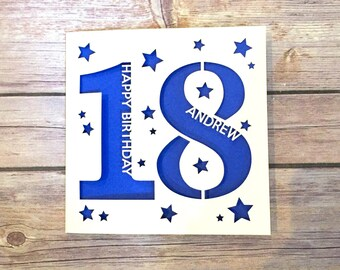 18th birthday card etsy personalised 18th birthday card 18th daughter 18th son 18th niece 18th nephew bookmarktalkfo Choice Image