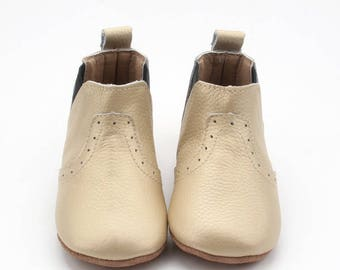 Matte Gold Leather Boot