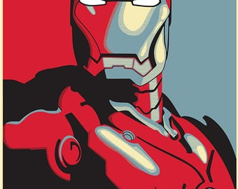 IronMan HOPE Marvel Poster Large A1 Captain America Avengers Deadpool Arty Effect Bedroom Poster Infinity War