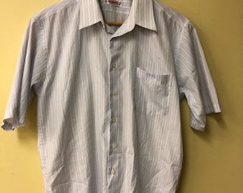 1970s Men's Short Sleeve Dress Shirt by Casserini of Italy