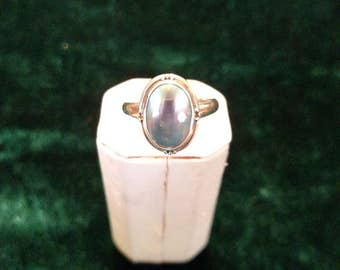 Vintage Abalone Sterling Silver Ring Size 9 5.1g AFSP
