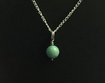 Tiny Turquoise Charm Necklace