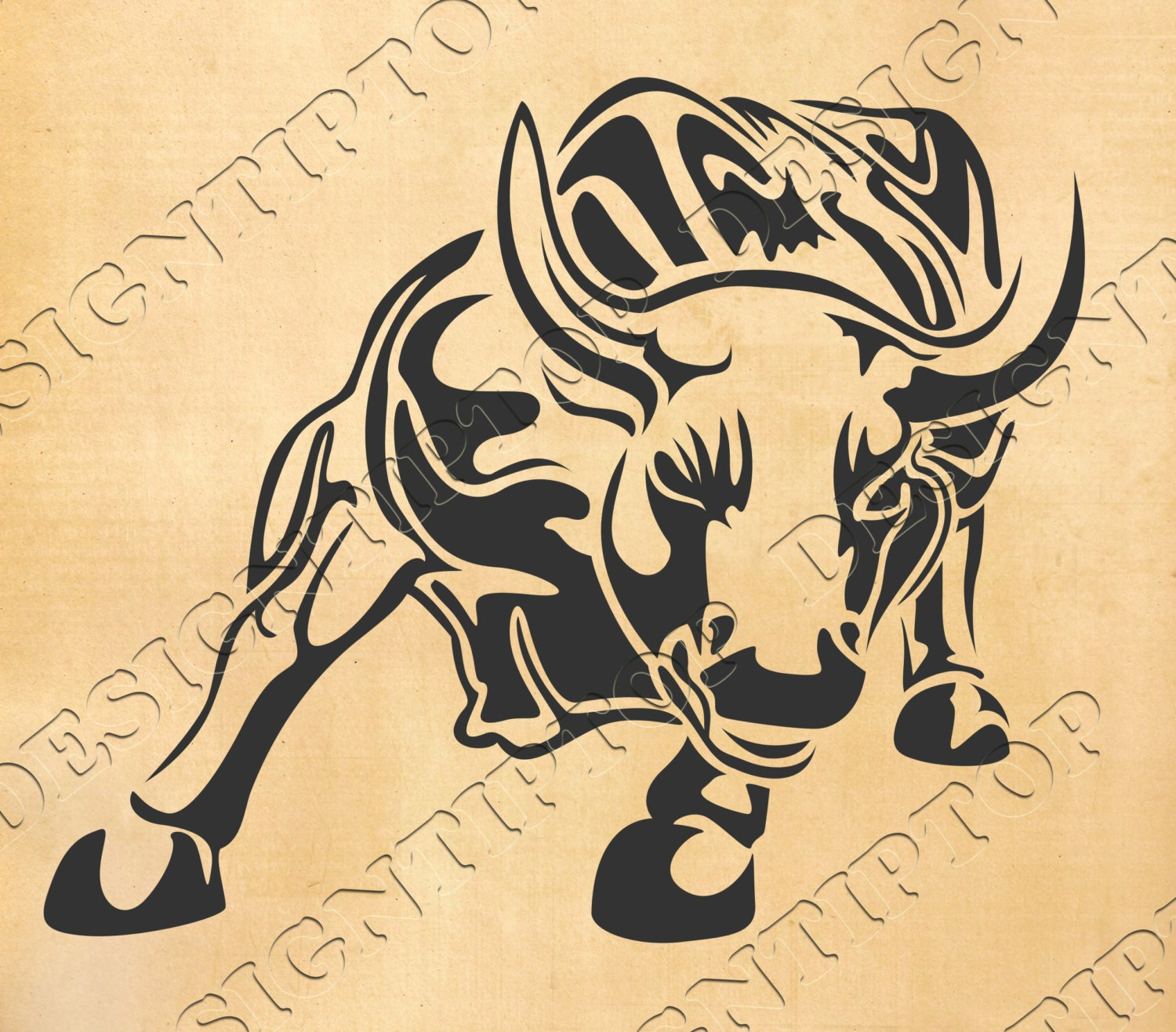 Bull SVG, bull dxf, Bull silhouette, SVG design, animal cut files ...