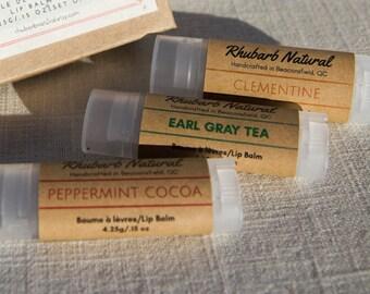Earl Grey Tea, Clementine, Peppermint Cocoa, lip balm, stocking stuffers