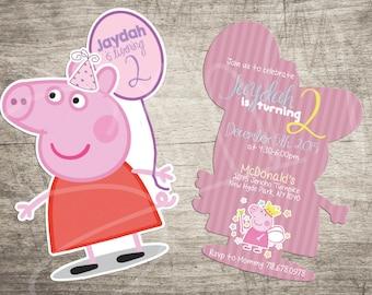 "NEW E-vite Peppa Pig Birthday Invitations-5"" x 7"" Digital"