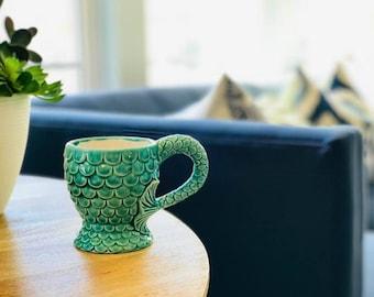 Mermaid Coffee Mug, Gift for her, Mermaid decor, Mermaid Mug, coffee mug, coffee cup, Mermaid Tail, Handmade in my Charleston SC studio.