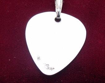 Guitar Pick Pendant .925