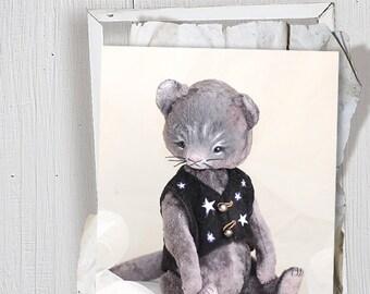 Pattern Teddy cat Fabian 22cm (8.9 in) + Pattern jacket