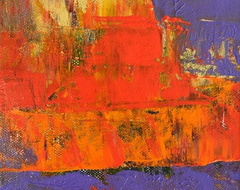 Violet Red Abstract Painting Bright Colorful Textured Modern Art Original Don Bishop