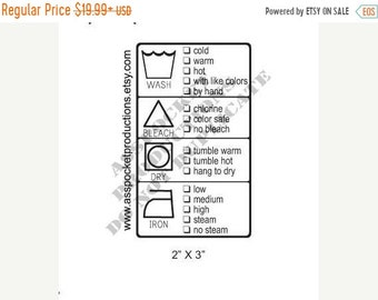 Mothers Day Sale Fabric or Garment Care Label Custom Rubber Stamp For Your Sewing Business