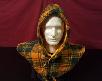 Green & Yellow Plaid Hoodacho
