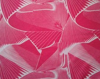 Roze trui breien Jersey trui breien stof die Cardigan Stretch stof door de werf abstracte print kleermakerij Monaluna weefsel Franse terry breien