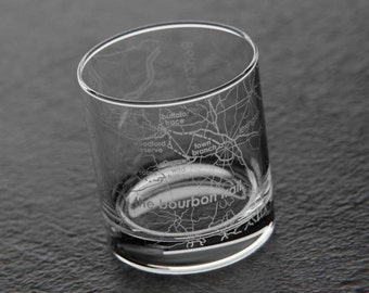Etched whiskey glass Etsy