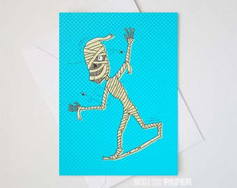 Manny the Mummy Greeting Card - Halloween - Hollywood Monsters