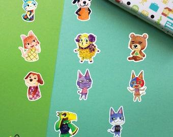 Choose | Animal Crossing Villagers #7 stickers | Felicity Stinky Bob Tom Frank Francine Maddie Teddy Walker Willow
