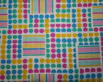 Vintage Fabric Polka Dots and Stripes