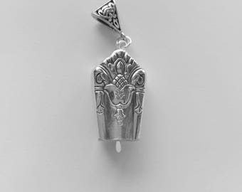 Her Majesty 1931 upcycled knife handle bell necklace!