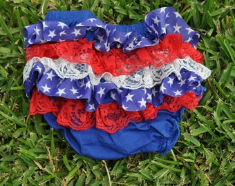 Stars and Lace ruffle bloomers