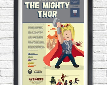 The Avengers - Thor - 19x13 Poster