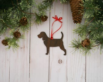 Customizable Beagle Christmas Tree Ornament | Personalized Dog Ornament